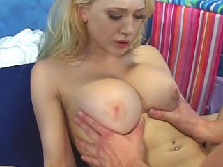 Outstanding horny blonde girl getting face fucked and loving it
