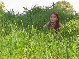 Horny blond girl getting fucked outdoor and loving it