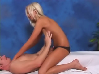 Round tit blond babe gets off sucking and fucking a huge dick