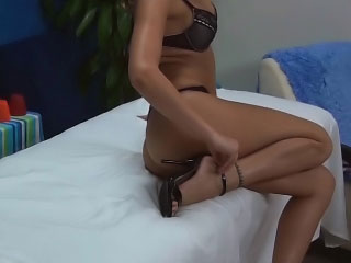 Tattooed hairless golden-haired babe gets wang blasted by a big dick