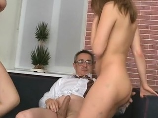 Beauty is having hardcore bed sex with hungry old teacher