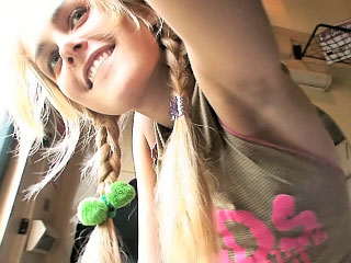 Blond cocksucker legal age teenager girl fucking hard and deep