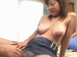 U definitely won't find a sexier office Japanese bitch than this huge tit chick as..