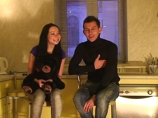 We are a hawt amateur pair, Ilya and Nastya. We started recording this amateur sex..