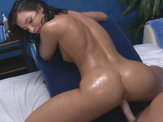 Super sexy dark brown babe sucks rod then gets fucked hard