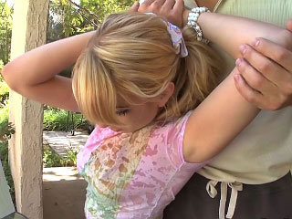 Lewd blond teenie Lexi acquires railed hard by one huge cock