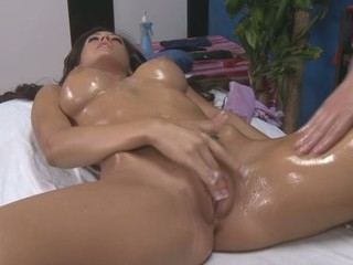 Sexy 18 year old acquires screwed hard by her massage therapist