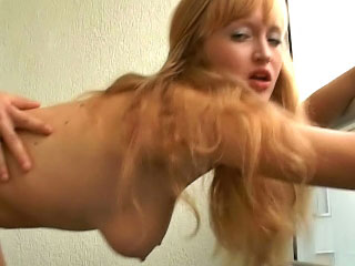 Gorgeous blonde babe getting gaped hard by big cock