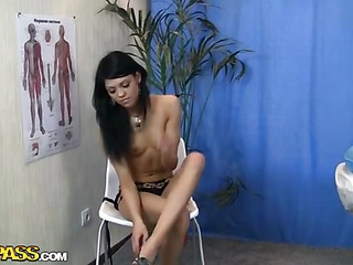 Do u love most of all blameless looking or sexually excited girls? See this video if u pick the latter! This gal is sexy and has a nasty attitude! This Babe strips her clothing off in a teasing way and lies down on the couch nude. Her body acquires overspread with body oil and rubbed tenderly. Cuties massage starts in a regular way but in a short time starts to resemble sex foreplay. After cunt fingering and oral-job there is no way back! The 2 forget about everything and have crazy sex on the couch!