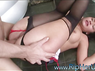 The sweetheart could get powerful orgasms only from anal fucking