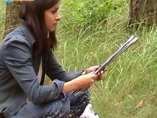 Honey sucks and acquires drilled outdoors in those spicy public vids