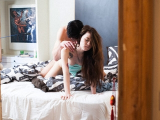 Cute angel has sex with her stay over night guest