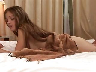Lucky male enjoys ache & pleasure of his blameless girlfriend