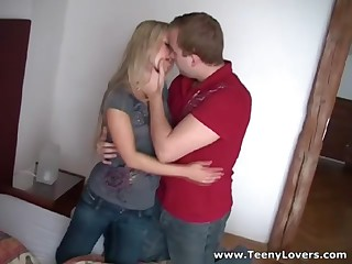 Nobody knows how to pick up and tempt an eager legal age teenager chick more excellent than this ever-horny guy who can't live without fucking stupid 18 y.o. cuties. This Chab has a huge collection of raunchy victories captured on web camera and this one is actually special cuz it's his recent neighbour a bitchy golden-haired who thinks this babe's so kewl and stuff but still falls prey to his raunchy charms. Now watch this slut take pecker in 69 position ride it hard and get nailed doggystyle like a filthy whore. This Babe merits it!