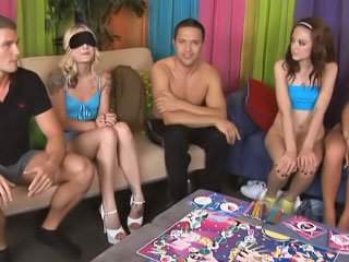 Wet excited and drunk angels get involved in wild groupsex orgy