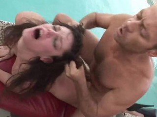 Rocco & his friend sharing 2 horny, hungry and pretty women!