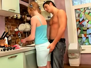 Outstanding legal age teenager getting gaped hard in her hawt twat by fortunate guy