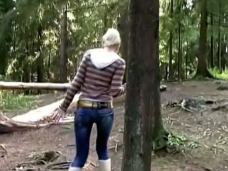 Beautiful blond teen getting gaped hard by big cock