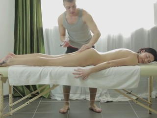 After having pestered her for two weeks straight, Gerta finally assented to a massage..