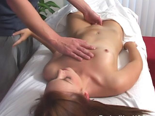 Super hot brunette honey sucks cock then acquires screwed hard