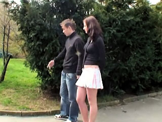 One astonishing girl and hot fellow drinking and then fucking hard