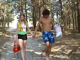 Gorgeous teenie getting screwed hard by lucky dude outdoors