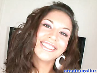 Ariana is a very sexy 19 year old latin chick beauty from Chicago. This is her first time having sex on camera and that chick does very well. Her and Ray get wild and that chick really gets him going. That Honey sucks his rod until this chab is very hard and then this chab fills her constricted shaved love tunnel with his big penis. After some wild banging, this chick drops to her knees and that guy fills her throat with a giant load of cum. This Honey loved it so much this chick came back for one greater amount mouthful.